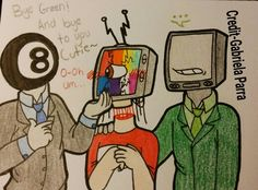 1/3 little comic with @rainb0wskittles t.v. head in the middle