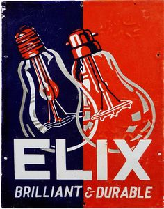 Vintage Helix Brilliant  Durable Lightbulb Sign