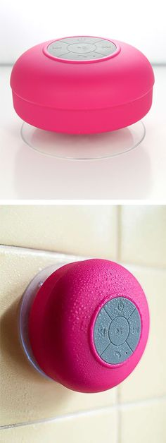 Waterproof bluetooth shower speaker! #product_design