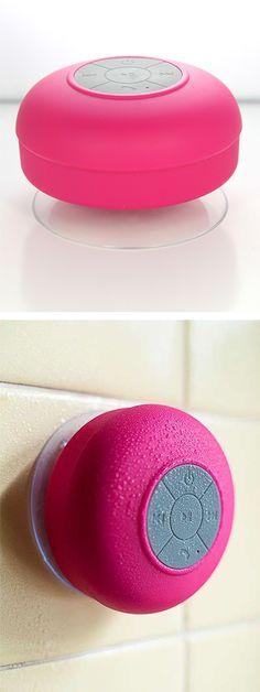 Waterproof bluetooth shower speaker! #product_design