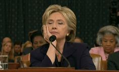 FORCED TESTIMONY.  Hillary Clinton before the House Benghazi Committee