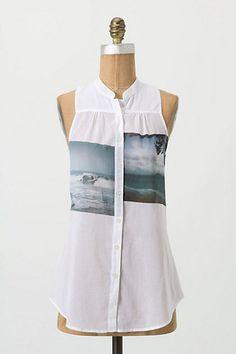 DIY Anthropologie-Inspired Photo Transfer Polaroid Shirt with Mod Podge