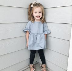 Girl outfit for the kids baby girl fashion, girl outfits, kids outfits. Stylish Little Girls, Little Girl Outfits, Little Girl Fashion, Cute Little Girls, Stylish Kids, Toddler Girl Style, Toddler Girl Dresses, Toddler Fashion, Toddler Outfits