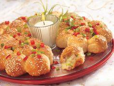 Ham & Cheese Bites - by Betty Crocker (made with Pillsbury Grands layered)