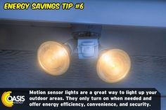 Energy Saving Tips, Save Energy, Energy Providers, Gas Service, Outdoor Areas, Energy Efficiency, Light Up, Energy Conservation
