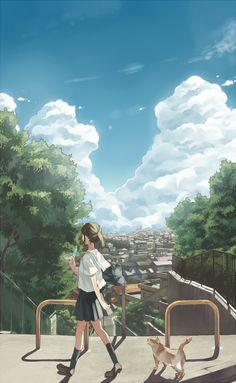 青くさい夏の恋歌 | ぶーた [pixiv] http://www.pixiv.net/member_illust.php?mode=medium&illust_id=26969374