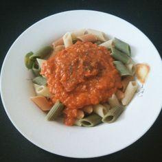 Salsa boloñesa de lentejas rojas Vegetarian Recipes, Healthy Recipes, Healthy Food, Tandoori Chicken, Meat, Ethnic Recipes, Red Peppers, Pizza Recipes, Vegetarian Food
