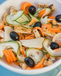 Receita de Salada de frango com parmesão