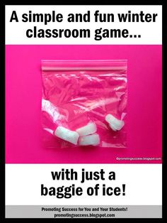 Winter Game for Your Primary Classroom Here is a fun and simple winter game to play in your primary classroom.  It works well as a brain break movement activity, for indoor recess, or as a social interaction activity.