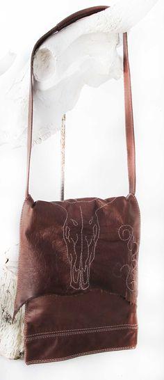 Marek large leather bag- RAWEDGE