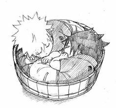 Naruto&Sasuke - Aww so kawaii! Art by Nilo Signal Sasuke X Naruto, Anime Naruto, Hinata, Sasuke Sakura, Naruto Kawaii, Naruto Team 7, Naruto Cute, Anime Kawaii, Naruto Shippuden