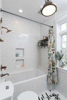 Our vintage-inspired bathroom remodel and design details {Raynebo.net}!