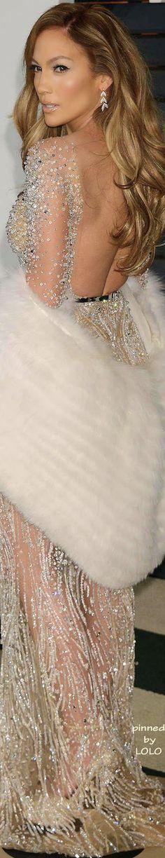 Jennifer Lopez 2015 Vanity Fair Oscar Party in Zuhair Murad | LOLO