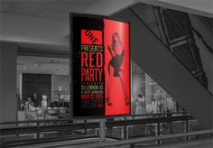#portfolio #red #party #club #invitation #indoor #advertising #poster #aslangraphics