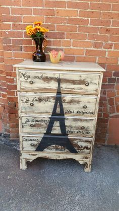 French Love Inspiration EIFFEL TOWER DRESSER by WeHaveAGreatNotion