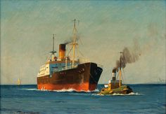 Svend Drews (1919) Steamship and Tugboat