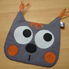 Porte-monnaie chat gris et orange