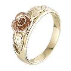 Black Hills Gold Engagement ivy and rose ring Welsh Jewellery, Welsh Gold, Fork Bracelet, Wedding Jewelry, Gold Wedding, Wedding Band, Black Hills Gold Jewelry, Jewelery, Rose Jewelry