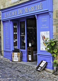 """Wine stores are called """"Caves"""". La Cave Du Marche Bordeaux Wine Shop, St. Emilion, France....."""