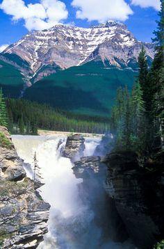 https://flic.kr/p/cX3DxN   NPC1529 - Athabasca Falls.  ©Jerry Mercier   Athabasca Falls with Mount Kerkeslin in the distance. Jasper National Park, Alberta, Canada