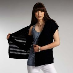 fair trade, organic cotton/silk Chic Vest from @INDIGENOUS