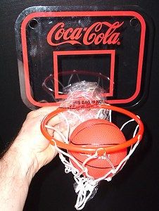 Coca Cola Soda Pop Coke BASKET BALL Hoop and Basket Ball MINT