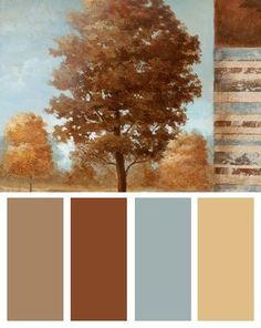 Fall Color Palettes. So beautiful no matter what time of year it is! #color