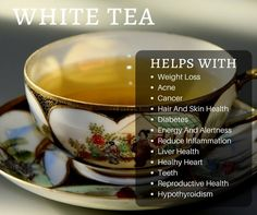 The Health Benefits to Drinking White Tea
