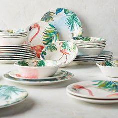 Flamingo Melamine Dinnerware 12-pc. Set