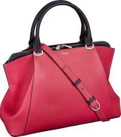 C de Cartier bag, small model Pink sapphire and tanzanite-colored taurillon…