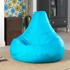 Pouf poire designer inclinable de jeux AQUA- pouf poire pour l'intérieur et l'extérieur (résistant à l'eau) par Bean Bag Bazaar®