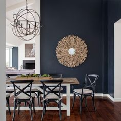 I like the wall color in this photo. Not sure for which room though. Indigo Color Palette - Indigo Color Schemes | HGTV