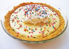 Cake batter pie and other cake-batter-flavored recipes :)