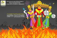 """A time for celebration, A time for victory of good over bad, A time when world see the example of power of good. Let us continue the same """"true"""" spirit. Blessing of #Dussehra  From- #BigDealsnSolution"""