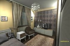 bedroom design 2 Bedroom Apartment, This Is Us, Entryway, Curtains, Building, House, Furniture, Design, Home Decor