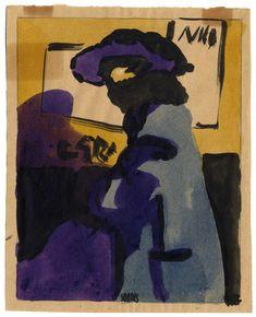 "António Soares (Lisboa 1894 - Lisboa 1978) / ""Dama de Violeta"" (1921)  Casa Museu Leal da Câmara"