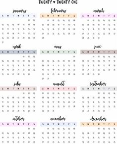 CALENDARIOS ANUALES   craftsbylsm Bullet Journal Mood, Cat Party, Print Wallpaper, Printables, Cow Print, Hello Kitty, Spanish, Youtube, Yearly Calendar