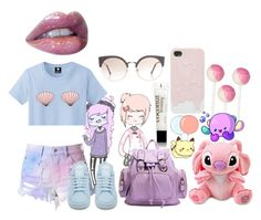 """""""Annalise"""" by alien-fromearth ❤ liked on Polyvore featuring INC International Concepts, Cotton Candy, philosophy, adidas and RetroSuperFuture"""