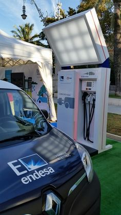 Enel - Endesa's Fast Electric Charger for electric vehicle close to Arc de Triomf in Barcelona