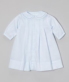 Another great find on #zulily! Blue Smocked Collar Dress - Infant #zulilyfinds