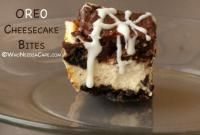 OREO Cookie Cheesecake Bites on MyRecipeMagic.com will be your new favorite dessert if you are an oreo lover! #bites #cheesecake #oreo