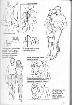 Manga Drawing Design How to draw manga vol. Couple Poses Drawing, Couple Drawings, Drawing Reference Poses, Drawing Poses, Drawing Sketches, Drawing Lessons, Drawing Tips, Comic Naver, Wie Zeichnet Man Manga