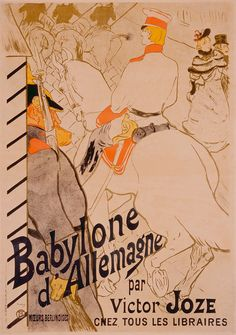 Henri de Toulouse-Lautrec (French, 1864–1901)  Babylone d'Allemagne, 1894  Five-color lithograph  image: 47 3/4 x 33 1/8 in. (121.29 x 84.14 cm) sheet: 48 3/4 x 34 7/16 in. (123.83 x 87.47 cm)  Gift of Mrs. Harry Lynde Bradley