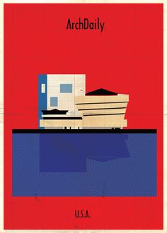 Federico Babina's Latest Archi-Illustrations: Classic National Architecture (With A Twist),Courtesy of Federico Babina