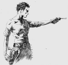 Roland from the Dark Tower series by Jae Lee Comic Art
