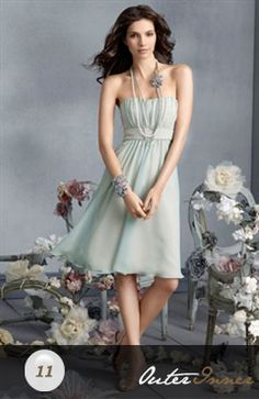A-line Two Tone Strapless Bridesmaid Dress Style Code: 02585