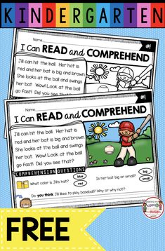 FREE Reading Passage with Comprehension Questions - First Grade - Kindergarten