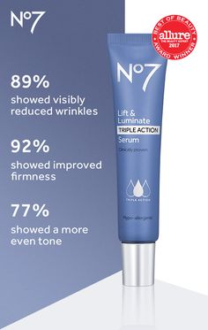 No7 Lift & Luminate Skincare Kit Visibly Reduced Wrinkles Firmer Skin Even Tone 6 Pack - One N Only Argan Oil Skin 100% Pure Argan Oil  1 oz