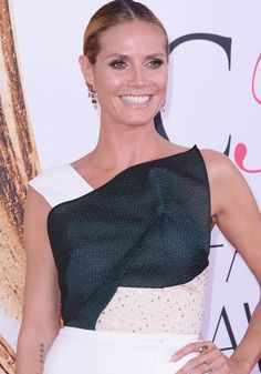 Heidi Klum at the 2016 CFDA Fashion Awards in New York on June 6, 2016