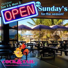 What are you doing next Sunday? You're going to be at The Cock & Tail Café of course! We can't wait to see you there!